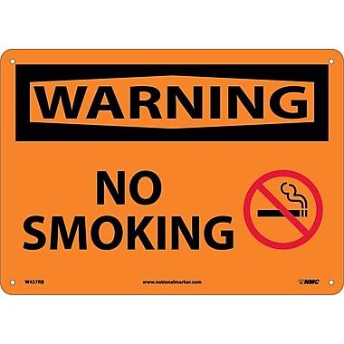 Warning, No Smoking, Graphic, 10X14, Rigid Plastic