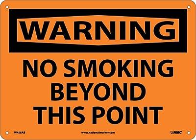 Warning, No Smoking Beyond This Point, 10X14, .040 Aluminum