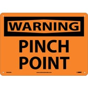 Warning, Pinch Point, 10X14, .040 Aluminum