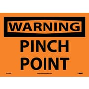 Warning, Pinch Point, 10X14, Adhesive Vinyl