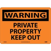 Warning, Private Property Keep Out, 10X14, Rigid Plastic