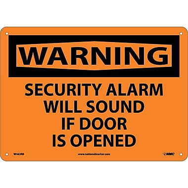 Warning, Security Alarm Will Sound If Door Is Opened, 10