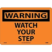 Warning Sign; Watch Your Step, 10X14, .040 Aluminum