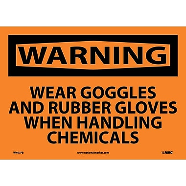 Warning, Wear Goggles And Rubber Gloves When Handling Chemicals, 10