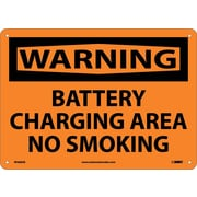 Warning, Battery Charging Area No Smoking, 10X14, .040 Aluminum