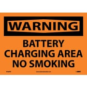 Warning, Battery Charging Area No Smoking, 10X14, Adhesive Vinyl