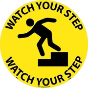 "Floor Sign, Walk On, Watch Your Step, 17"" Dia"