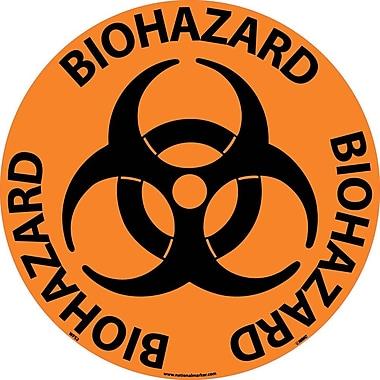 Floor Sign, Walk On, Biohazard, 17