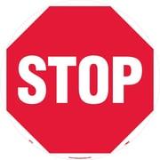 """Floor Sign, Walk On, Stop, 17"""" Dia"""