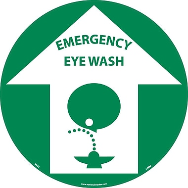Floor Sign, Walk On, Emergency Eye Wash, 17