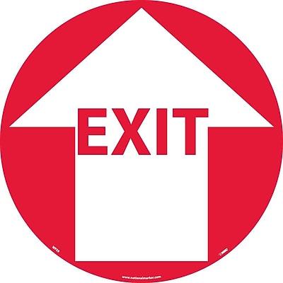Floor Sign, Walk On, Exit W/Arrow, 17
