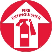 "Floor Sign, Walk On, Fire Extinguisher, 17"" Dia"
