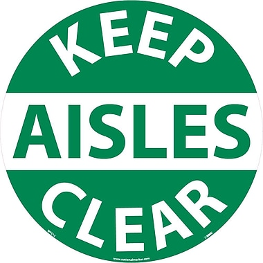 Floor Sign, Walk On, Keep Aisles Clear, 17