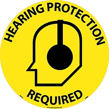 Floor Sign, Walk On, Hearing Protection Required, 17