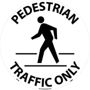 Floor Sign, Walk On, Pedestrian Traffic Only, 17 Dia, Ps Vinyl