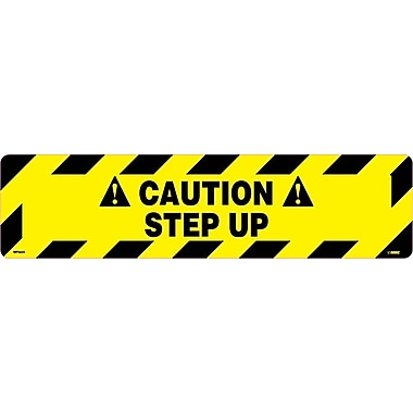 Floor Sign, Walk On, Caution Step Up, 6X24