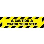 Panneau pour plancher, approprié pour marcher dessus, Caution Watch Your Step, 6 x 24 po