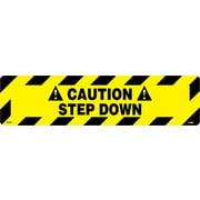 "Floor Sign, Walk On, Caution Step Down, 6"" x 24"""