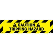"Floor Sign, Walk On, Caution Tripping Hazzard, 6"" x 24"""