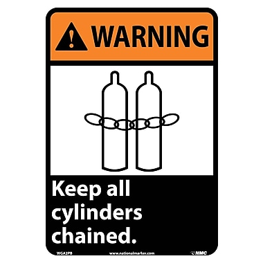 Warning, Keep All Cylinders Chained with Graphic, 14