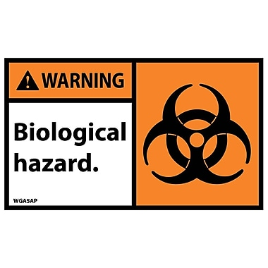 Warning, Biological Hazard Graphic, 3