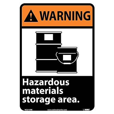 Warning, Hazardous Materials Storage Area (W/Graphic), 14X10, Adhesive Vinyl