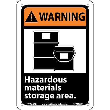 Warning, Hazardous Materials Storage Area with Graphic, 10