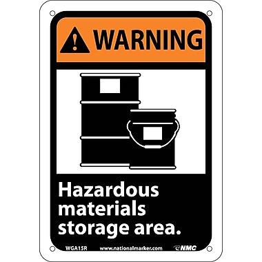 Warning, Hazardous Materials Storage Area (W/Graphic), 10X7, Rigid Plastic