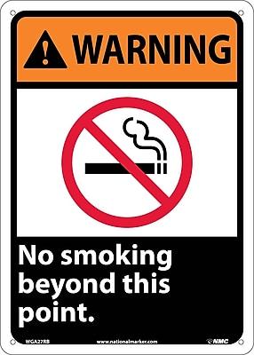 Warning, No Smoking Beyond This Point, 14X10, Rigid Plastic