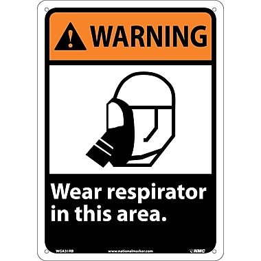 Warning, Wear Respirator In This Area, 14