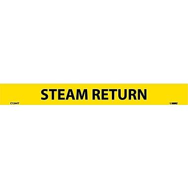 Pipemarker, Adhesive Vinyl, 25/Pack, Steam Return, 1