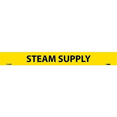 Pipemarker, Adhesive Vinyl, 25/Pack, Steam Supply, 1