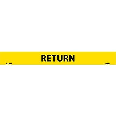 Pipemarker, Adhesive Vinyl Return, 1X9 1/2