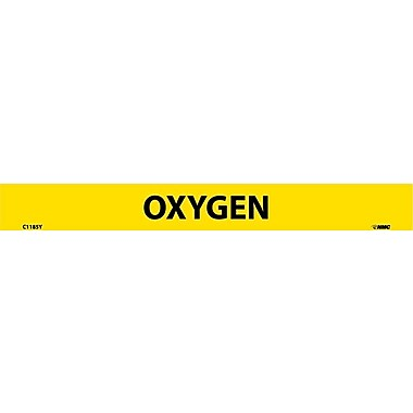 Pipemarker, Adhesive Vinyl, 25/Pack Oxygen, 1