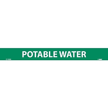 Pipemarker, Adhesive Vinyl, Potable Water, 1X9 1/2
