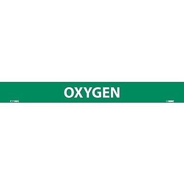Pipemarker, Adhesive Vinyl, 25/Pack, Oxygen, 1