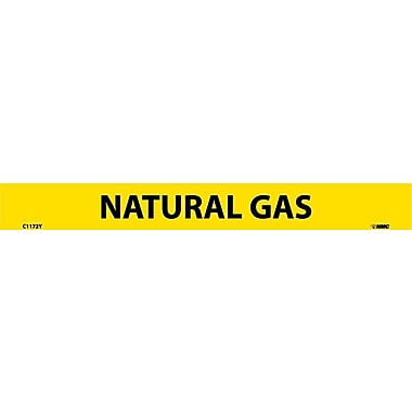 Pipemarker, Adhesive Vinyl, Natural Gas, 1X9 1/2