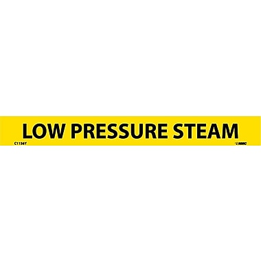 Pipemarker, Adhesive Vinyl, Low Pressure Steam, 1X9 1/2