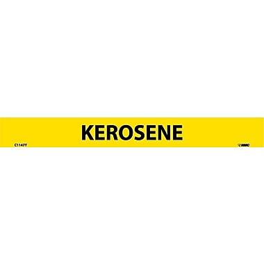 Pipemarker, Adhesive Vinyl, Kerosene, 1X9 1/2