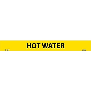 Pipemarker, Adhesive Vinyl, 25/Pack, Hot Water, 1