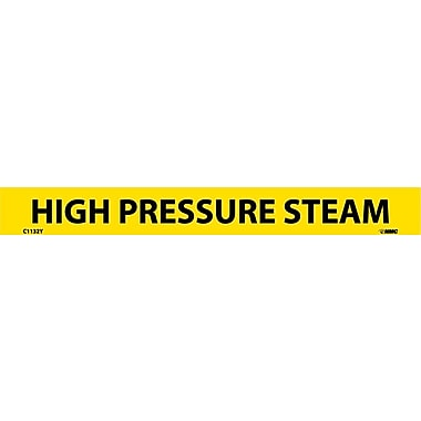 Pipemarker, Adhesive Vinyl, 25/Pack, High Pressure Steam, 1/18 7