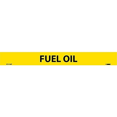 Pipemarker, Adhesive Vinyl, Fuel Oil, 1X9 1/2