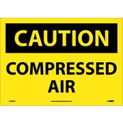 Caution, Compressed Air, 10X14, Adhesive Vinyl