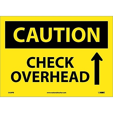 Caution, Check Overhead, Up Arrow, Graphic, 10