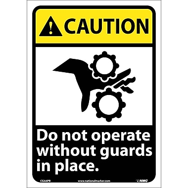 Caution, Do Not Operate Without Guards In Place with Graphic, 14