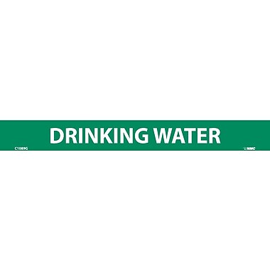 Pipemarker, Adhesive Vinyl, 25/Pack, Drinking Water, 1 1/8X7
