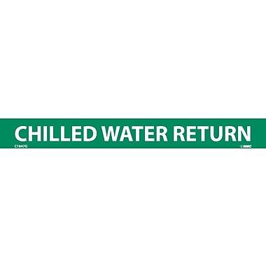 Pipemarker, Adhesive Vinyl, Chilled Water Return, 1X9 1/2
