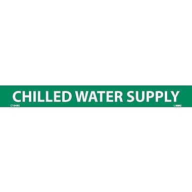 Pipemarker, Adhesive Vinyl, Chilled Water Supply, 1X9 1/2