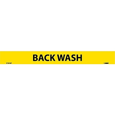 Pipemarker, Adhesive Vinyl, Back Wash, 1X9 1/2
