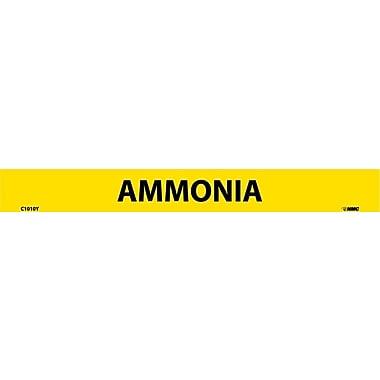 Pipemarker, Adhesive Vinyl, 25/Pack, Ammonia, 1